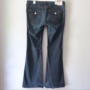 EUC True Religion Joey blue bell bottom jeans 32